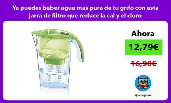 Ya puedes beber agua mas pura de tu grifo con esta jarra de filtro que reduce la cal y el cloro