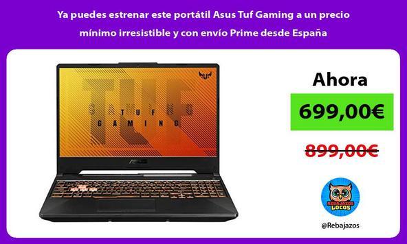 Ya puedes estrenar este portátil Asus Tuf Gaming a un precio mínimo irresistible y con envío Prime desde España