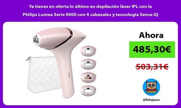Ya tienes en oferta lo último en depilación láser IPL con la Philips Lumea Serie 9000 con 4 cabezales y tecnología Sense IQ