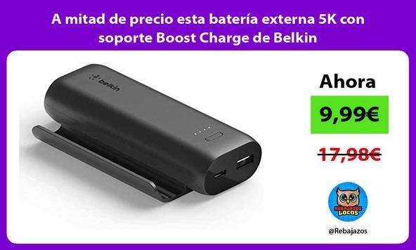 A mitad de precio esta batería externa 5K con soporte Boost Charge de Belkin