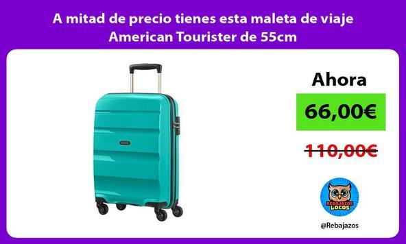 A mitad de precio tienes esta maleta de viaje American Tourister de 55cm