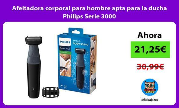 Afeitadora corporal para hombre apta para la ducha Philips Serie 3000