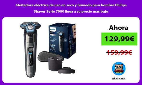 Afeitadora eléctrica de uso en seco y húmedo para hombre Philips Shaver Serie 7000 llega a su precio mas bajo