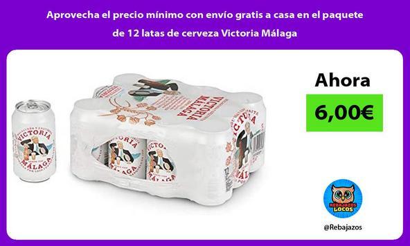 Aprovecha el precio mínimo con envío gratis a casa en el paquete de 12 latas de cerveza Victoria Málaga