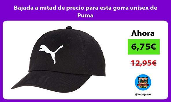 Bajada a mitad de precio para esta gorra unisex de Puma