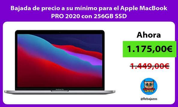 Bajada de precio a su mínimo para el Apple MacBook PRO 2020 con 256GB SSD