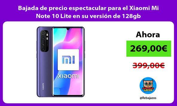 Bajada de precio espectacular para el Xiaomi Mi Note 10 Lite en su versión de 128gb