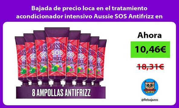 Bajada de precio loca en el tratamiento acondicionador intensivo Aussie SOS Antifrizz en pack de 8