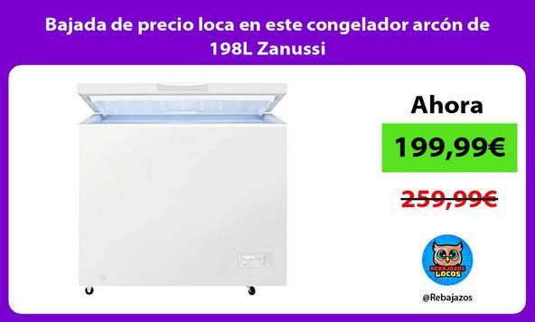 Bajada de precio loca en este congelador arcón de 198L Zanussi