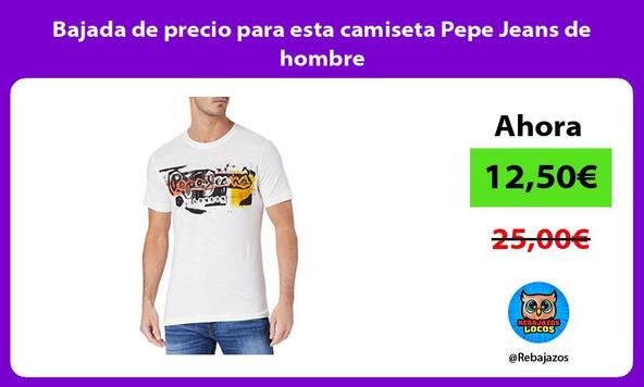 Bajada de precio para esta camiseta Pepe Jeans de hombre