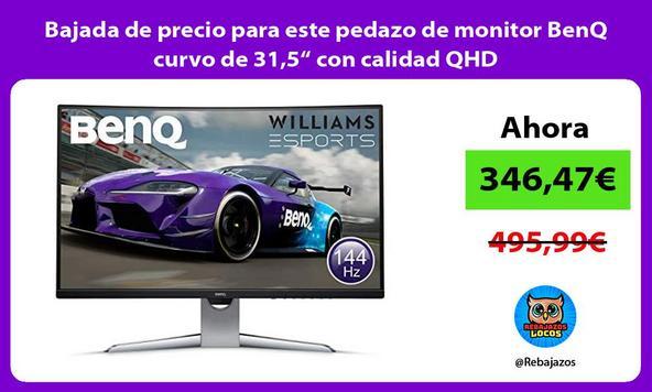 """Bajada de precio para este pedazo de monitor BenQ curvo de 31,5"""" con calidad QHD"""