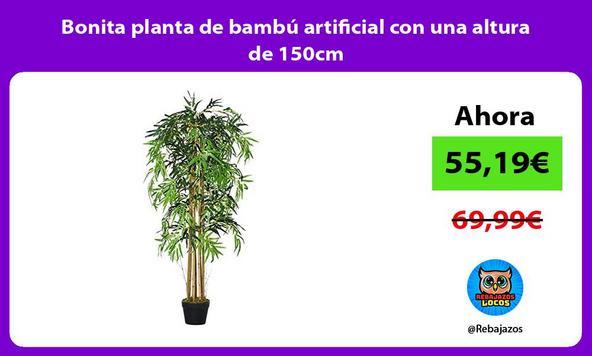 Bonita planta de bambú artificial con una altura de 150cm