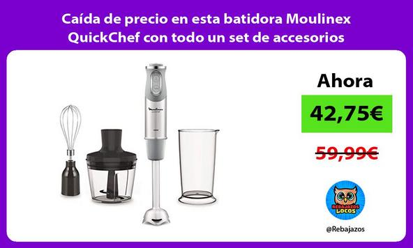 Caída de precio en esta batidora Moulinex QuickChef con todo un set de accesorios