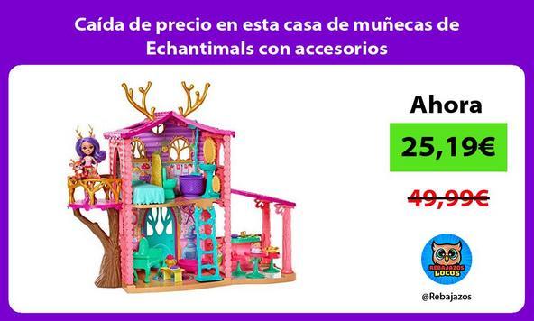 Caída de precio en esta casa de muñecas de Echantimals con accesorios