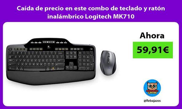 Caída de precio en este combo de teclado y ratón inalámbrico Logitech MK710