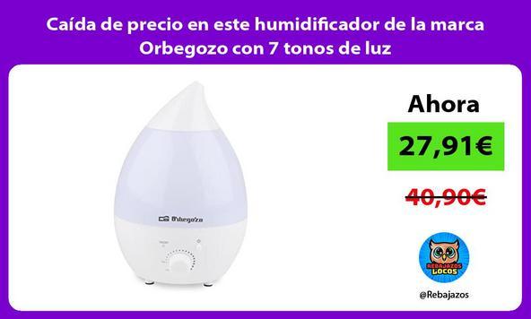 Caída de precio en este humidificador de la marca Orbegozo con 7 tonos de luz