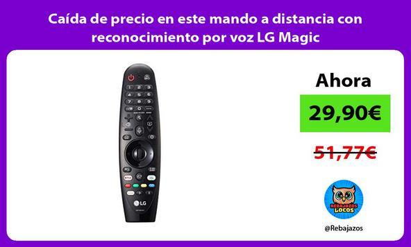 Caída de precio en este mando a distancia con reconocimiento por voz LG Magic