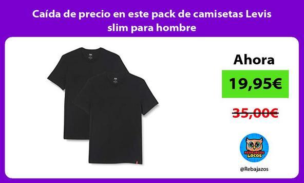 Caída de precio en este pack de camisetas Levis slim para hombre