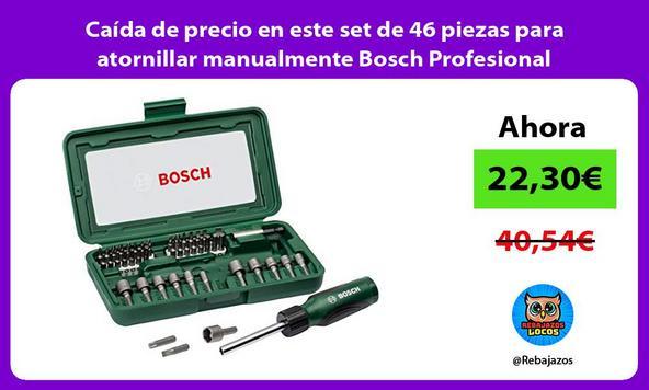 Caída de precio en este set de 46 piezas para atornillar manualmente Bosch Profesional