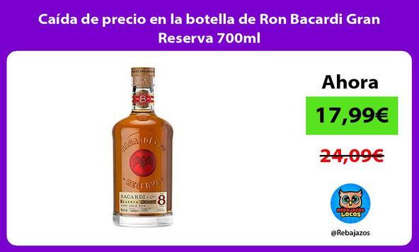 Caída de precio en la botella de Ron Bacardi Gran Reserva 700ml