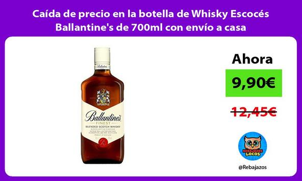 Caída de precio en la botella de Whisky Escocés Ballantine's de 700ml con envío a casa