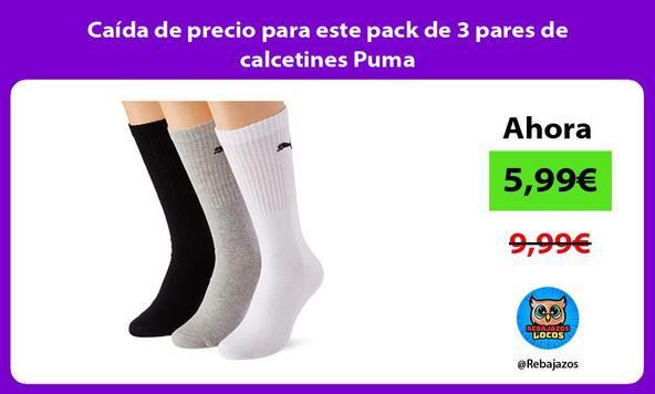 Caída de precio para este pack de 3 pares de calcetines Puma