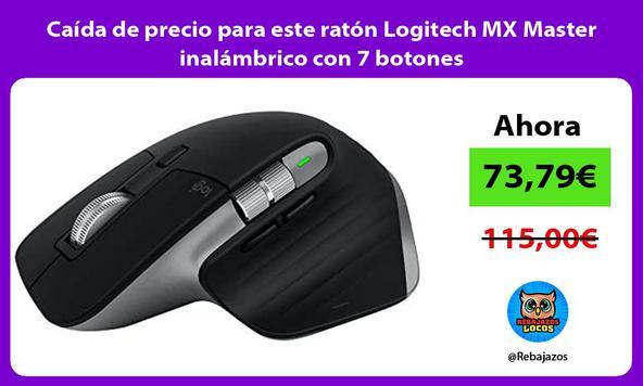 Caída de precio para este ratón Logitech MX Master inalámbrico con 7 botones