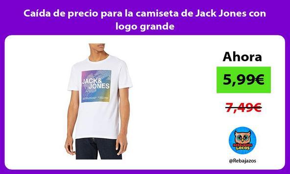 Caída de precio para la camiseta de Jack Jones con logo grande