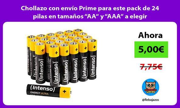 """Chollazo con envío Prime para este pack de 24 pilas en tamaños """"AA"""" y """"AAA"""" a elegir"""