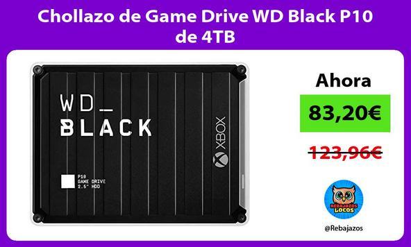 Chollazo de Game Drive WD Black P10 de 4TB