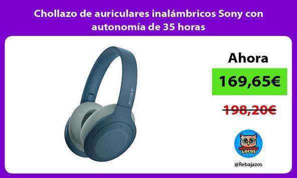 Chollazo de auriculares inalámbricos Sony con autonomía de 35 horas