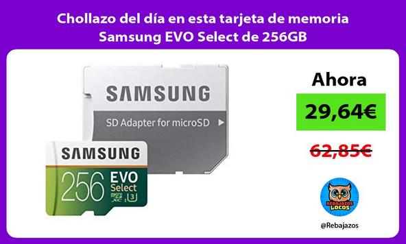 Chollazo del día en esta tarjeta de memoria Samsung EVO Select de 256GB