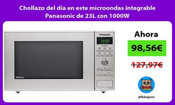 Chollazo del día en este microondas integrable Panasonic de 23L con 1000W