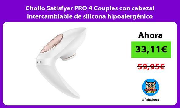 Chollo Satisfyer PRO 4 Couples con cabezal intercambiable de silicona hipoalergénico