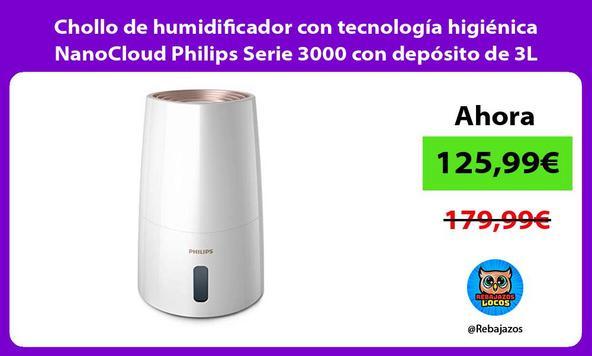 Chollo de humidificador con tecnología higiénica NanoCloud Philips Serie 3000 con depósito de 3L