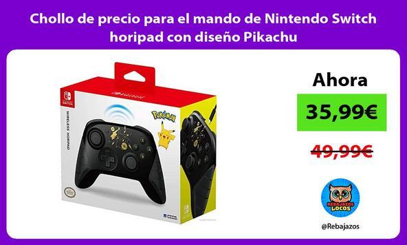 Chollo de precio para el mando de Nintendo Switch horipad con diseño Pikachu