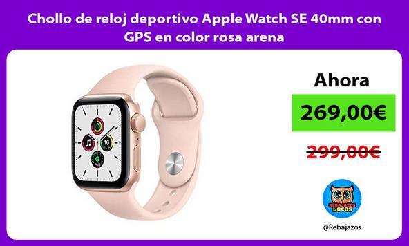 Chollo de reloj deportivo Apple Watch SE 40mm con GPS en color rosa arena