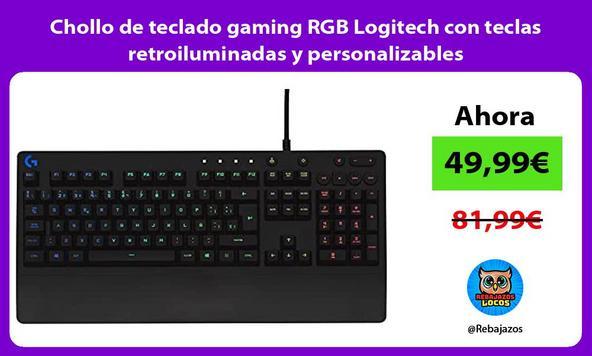Chollo de teclado gaming RGB Logitech con teclas retroiluminadas y personalizables