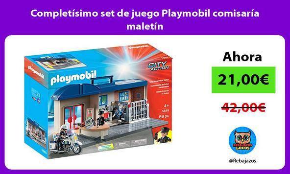 Completísimo set de juego Playmobil comisaría maletín