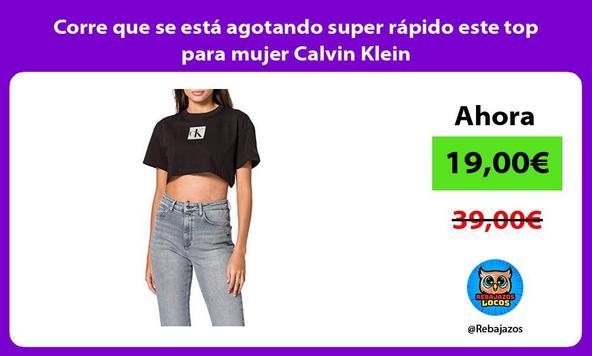 Corre que se está agotando super rápido este top para mujer Calvin Klein