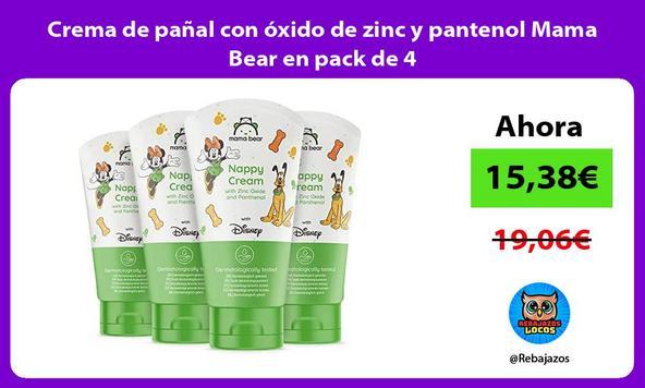 Crema de pañal con óxido de zinc y pantenol Mama Bear en pack de 4