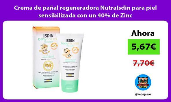 Crema de pañal regeneradora NutraIsdin para piel sensibilizada con un 40% de Zinc