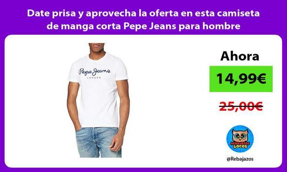 Date prisa y aprovecha la oferta en esta camiseta de manga corta Pepe Jeans para hombre