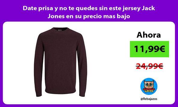 Date prisa y no te quedes sin este jersey Jack Jones en su precio mas bajo