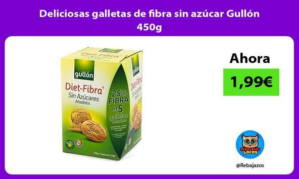 Deliciosas galletas de fibra sin azúcar Gullón 450g