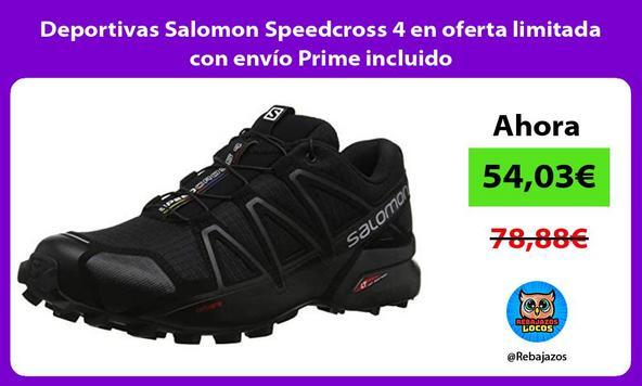 Deportivas Salomon Speedcross 4 en oferta limitada con envío Prime incluido