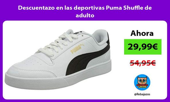 Descuentazo en las deportivas Puma Shuffle de adulto