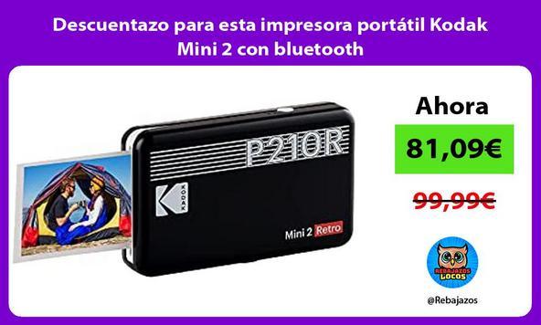 Descuentazo para esta impresora portátil Kodak Mini 2 con bluetooth