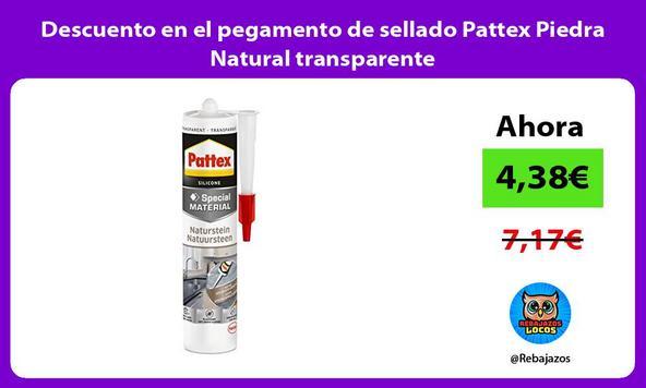 Descuento en el pegamento de sellado Pattex Piedra Natural transparente