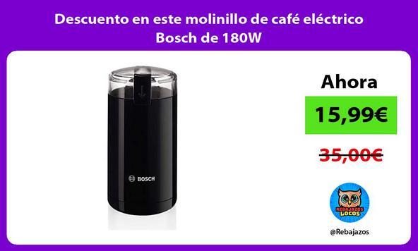 Descuento en este molinillo de café eléctrico Bosch de 180W